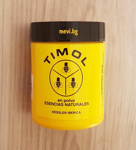 Тимол на кристали
